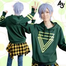 A3!エースリー! 夏組 斑鳩三角 私服 改良版(緑) コスプレ衣装
