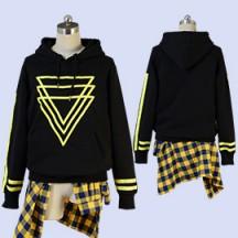 【女性S/M/L即納品】A3!エースリー! 夏組 斑鳩三角 私服 改良版(黒) コスプレ衣装