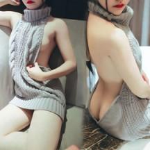 話題のセクシーセーター エロセーター 背中開き コスプレ衣装