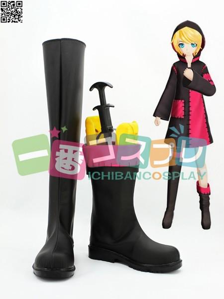 VOCALOID 鏡音リン 東京テディベア コスプレブーツ/靴