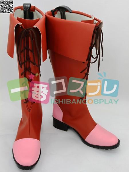 魔法少女まどか☆マギカ 鹿目 まどか コスプレブーツ/靴