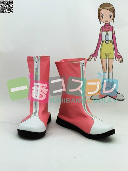 デジモンアドベンチャー 八神 ヒカリ  コスプレブーツ/靴