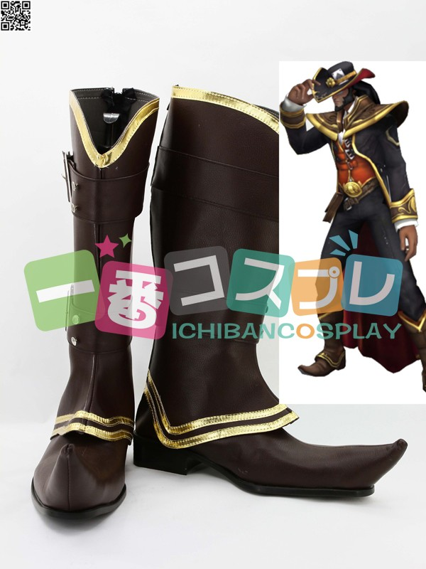 League of Legends リーグ・オブ・レジェンズ Twisted Fate コスプレブーツ