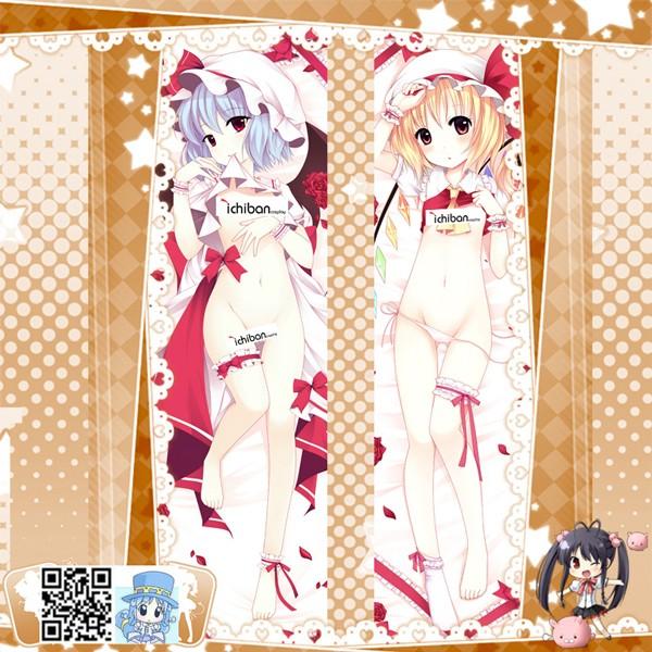 東方Project レミリア·スカーレット フランドール·スカーレット アニメ抱き枕カバー 両面等身大 サイズ/素材選択可