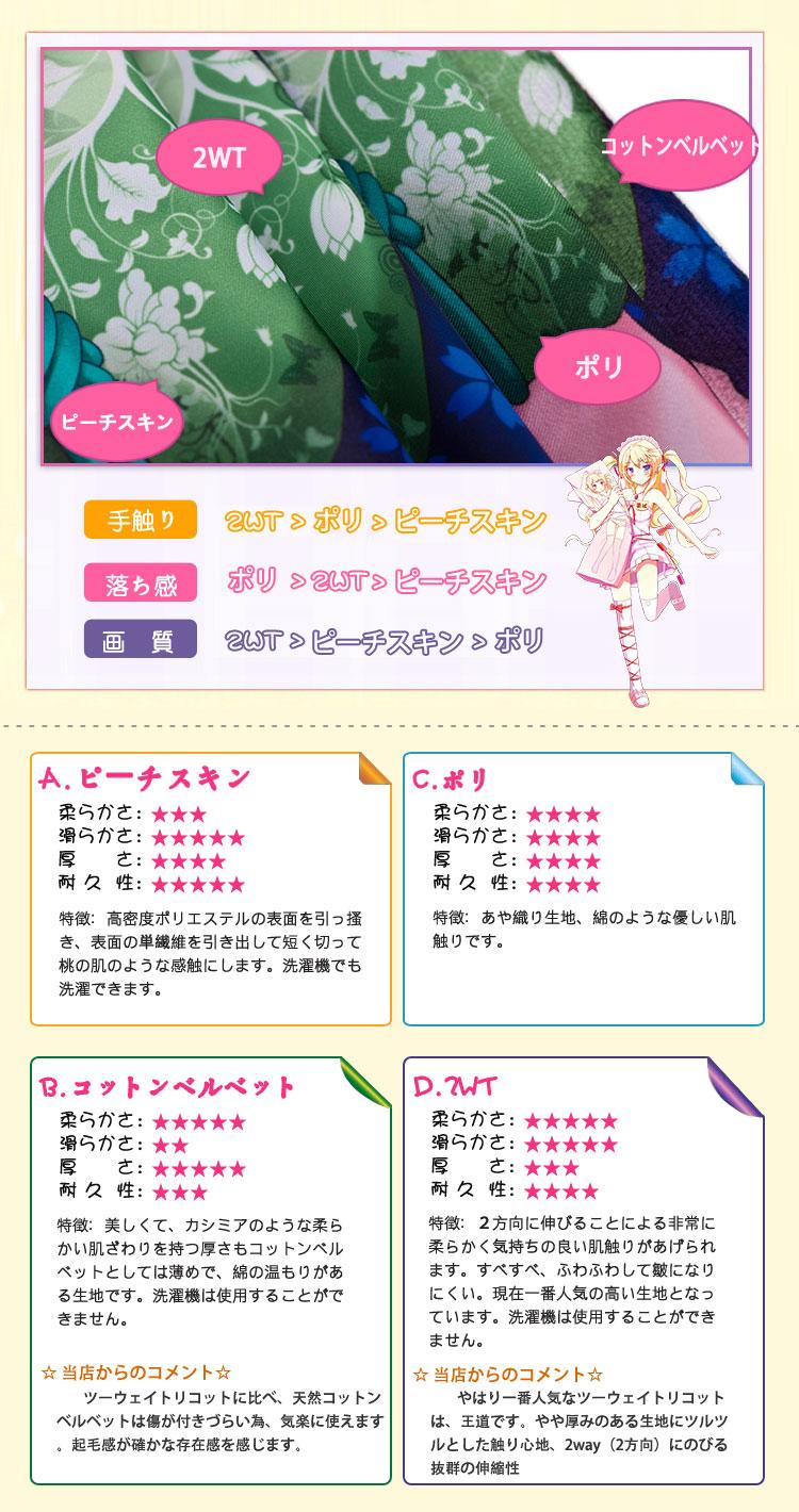 デート・ア・ライブ 四糸乃 アニメ抱き枕カバー 両面等身大 サイズ/素材選択可